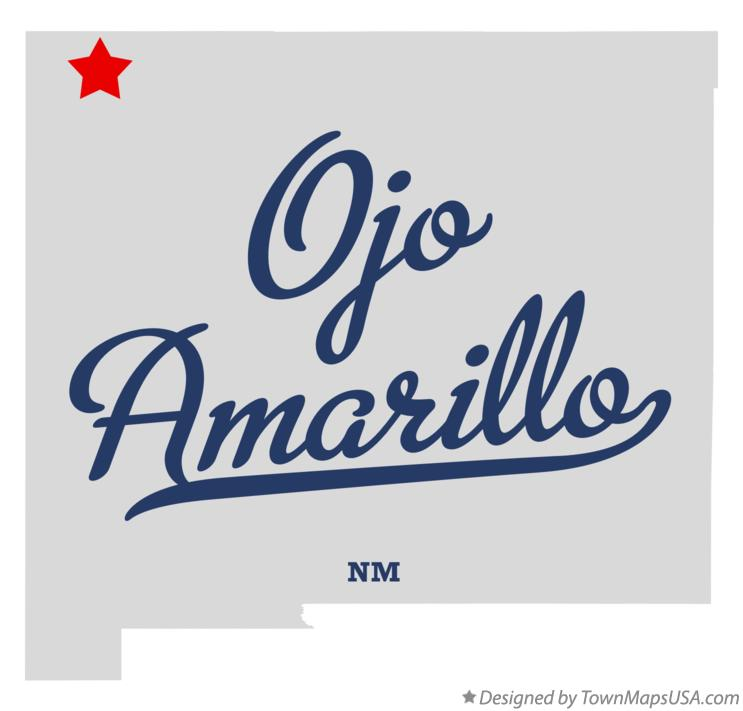 Map of Ojo Amarillo New Mexico NM