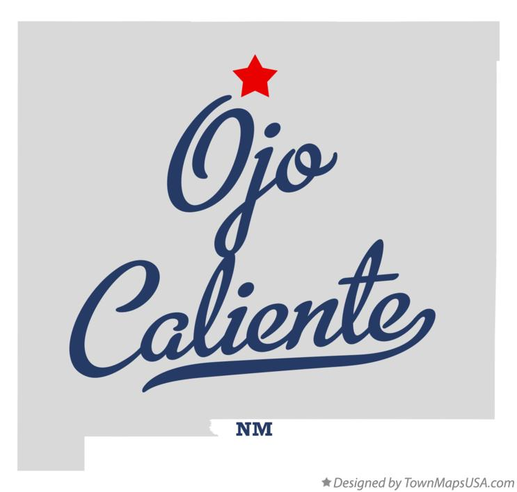 Ojo Caliente New Mexico Map.Map Of Ojo Caliente Taos County Nm New Mexico