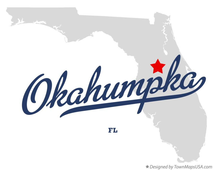Map of Okahumpka Florida FL