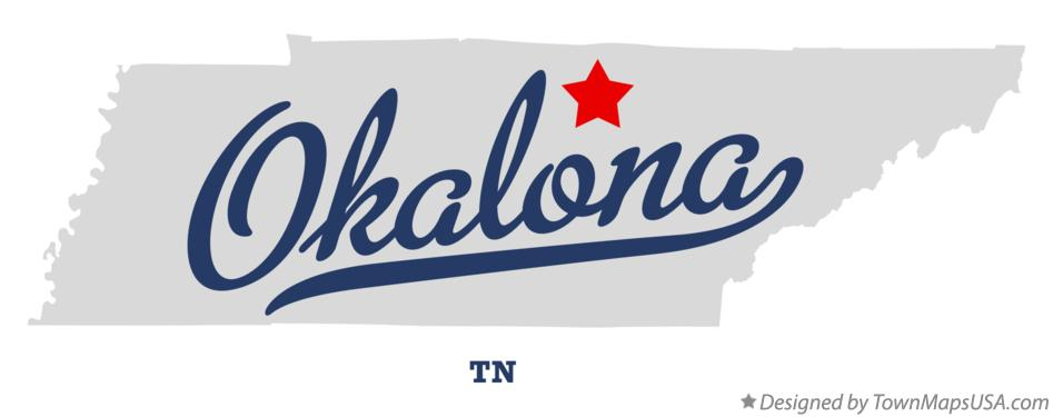 Map of Okalona Tennessee TN