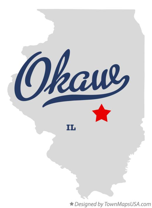 Map of Okaw Illinois IL