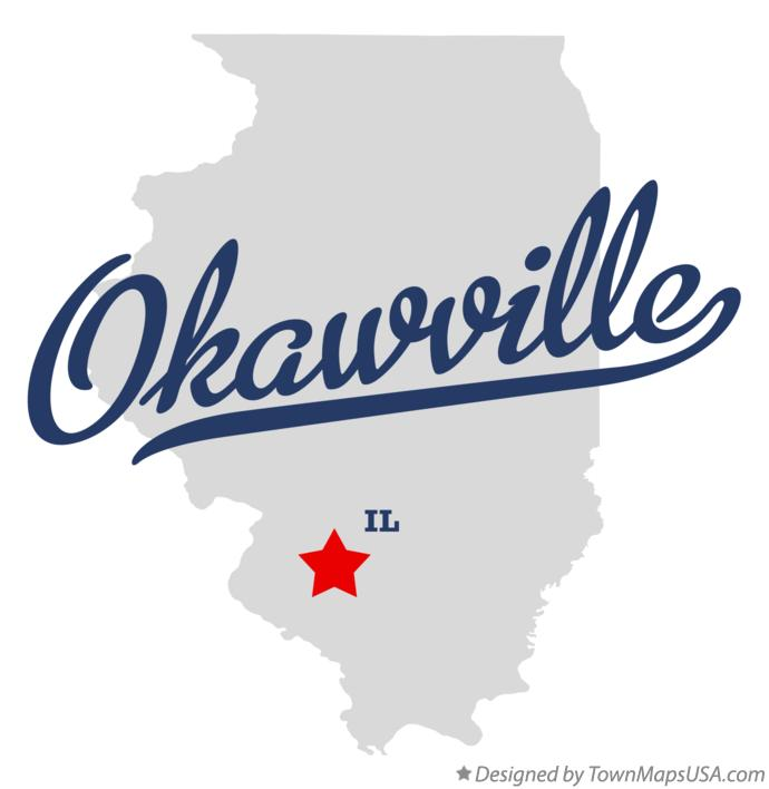 Map of Okawville Illinois IL