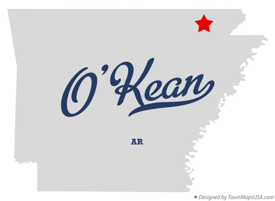 Map of O'Kean Arkansas AR
