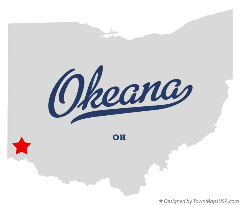 Map of Okeana Ohio OH