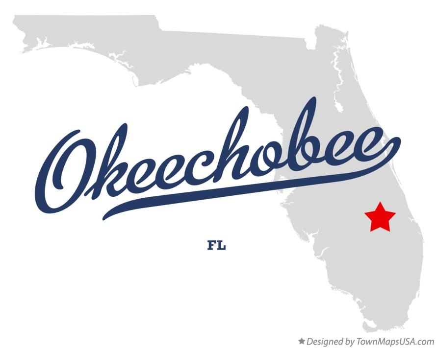 Map of Okeechobee Florida FL