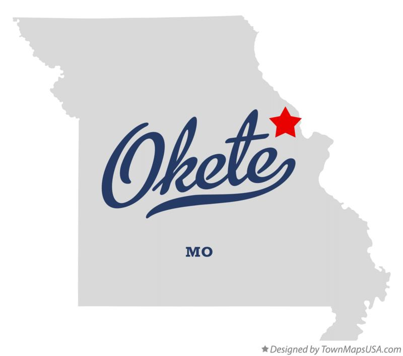 Map of Okete Missouri MO