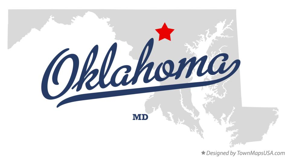 Map of Oklahoma Maryland MD