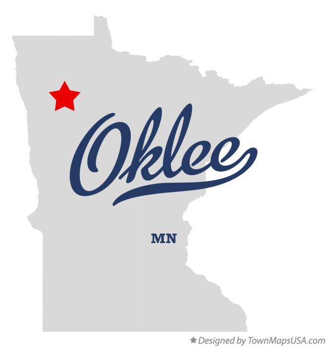 Map of Oklee Minnesota MN