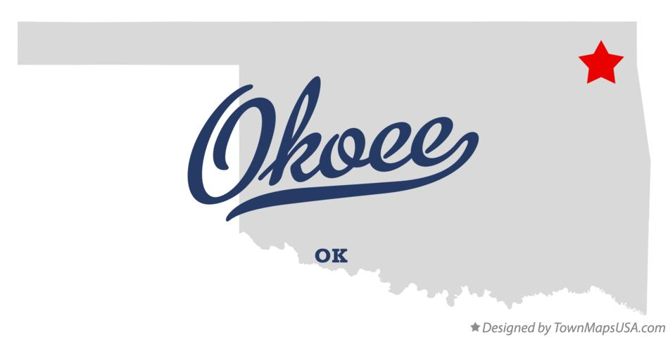 Map of Okoee Oklahoma OK