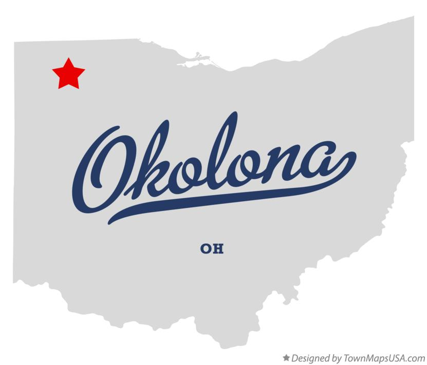 Map of Okolona Ohio OH
