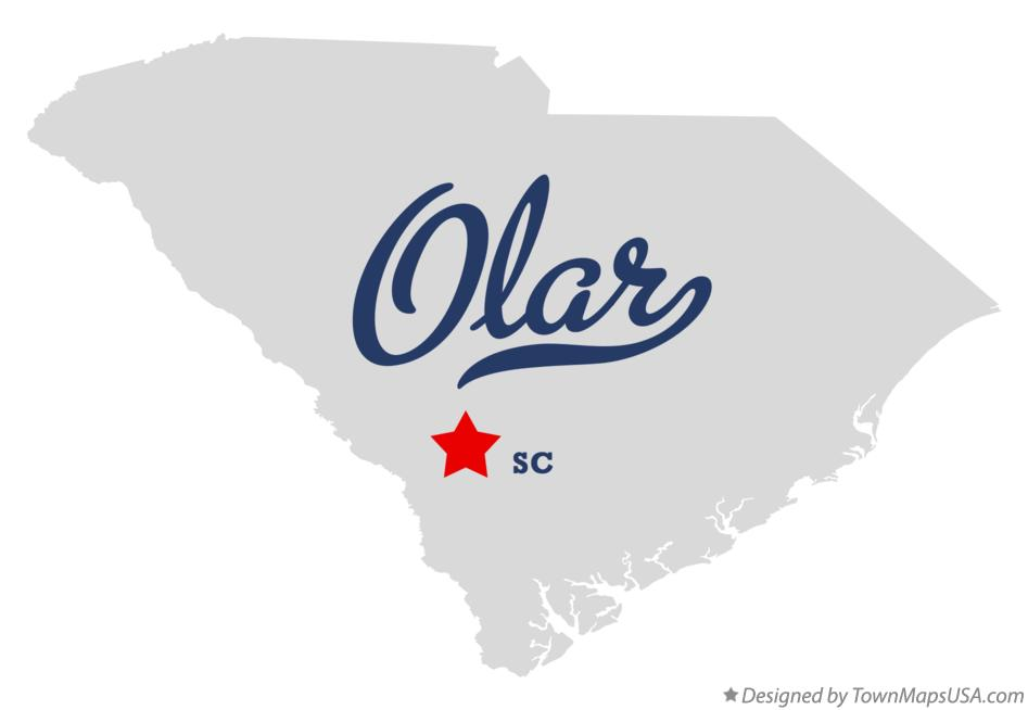 Map of Olar South Carolina SC