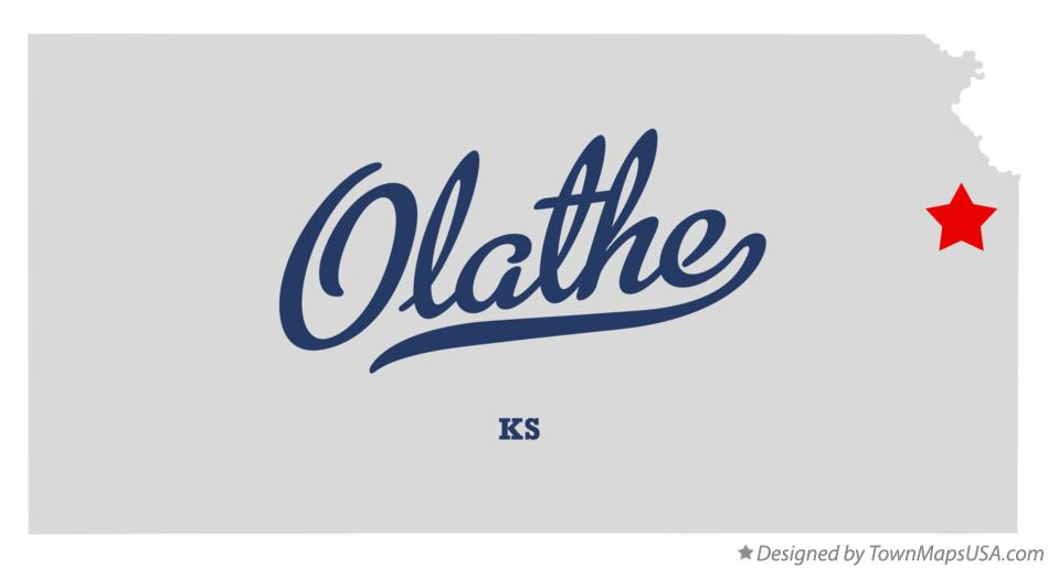 Map of Olathe Kansas KS
