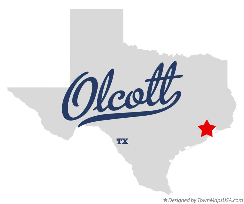 Map of Olcott Texas TX