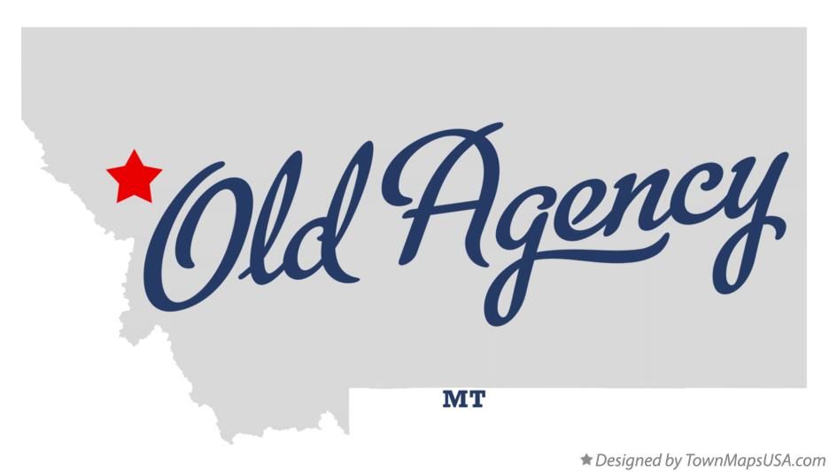 Map of Old Agency Montana MT
