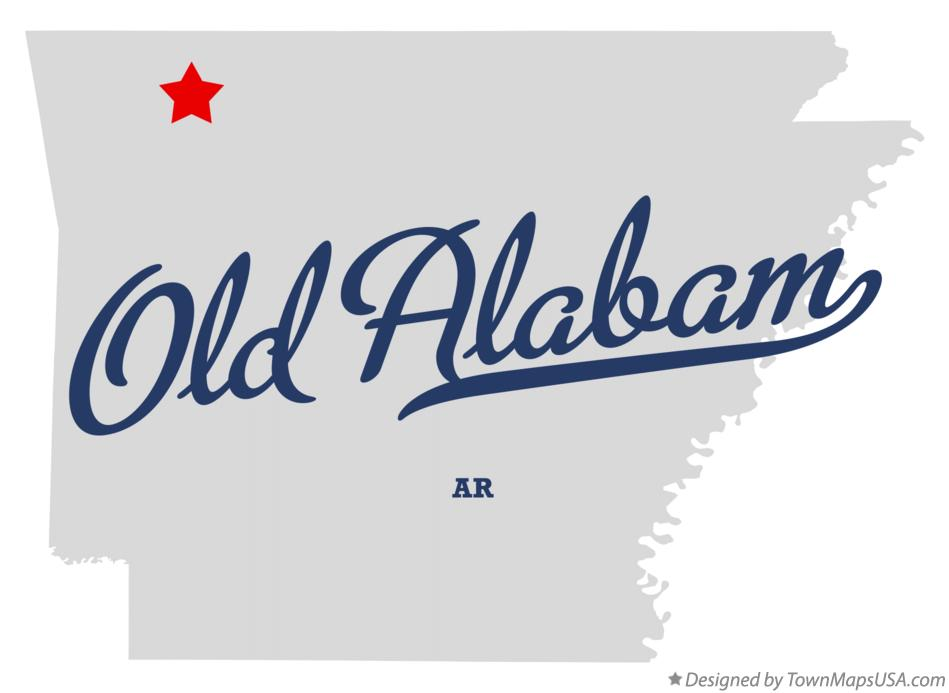 Map of Old Alabam Arkansas AR
