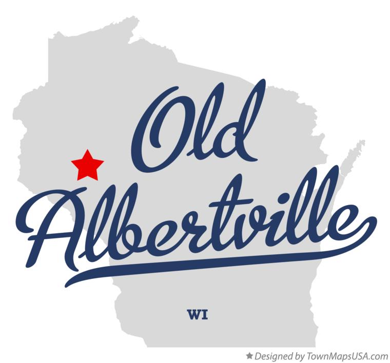 Map of Old Albertville Wisconsin WI