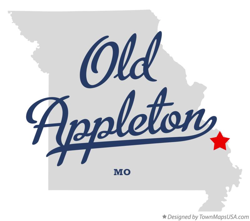 Map of Old Appleton Missouri MO