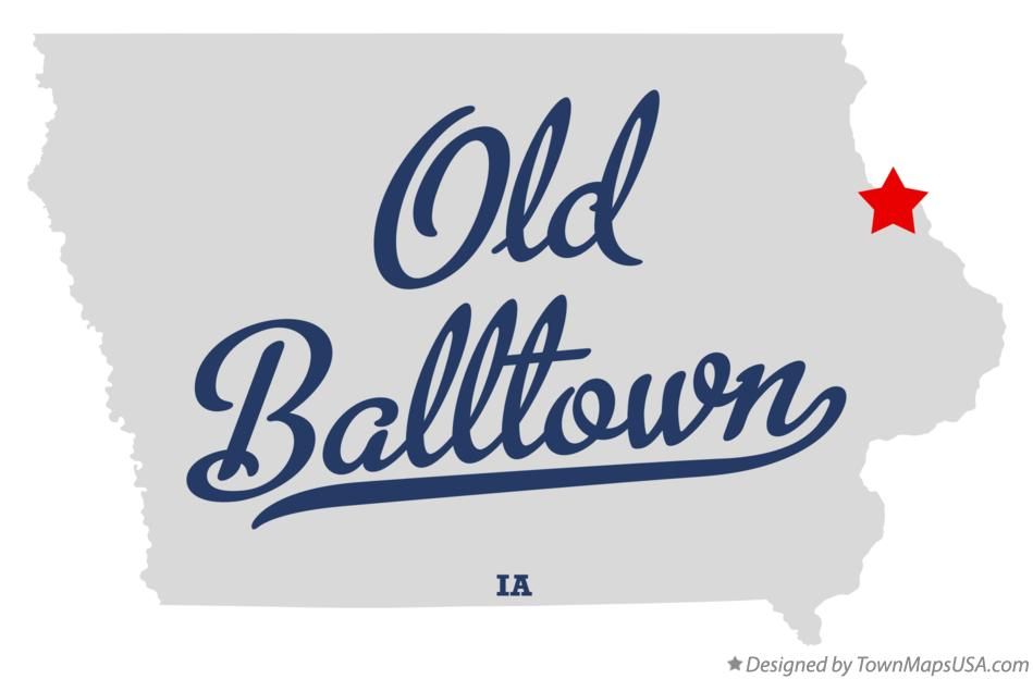 Map of Old Balltown, IA, Iowa