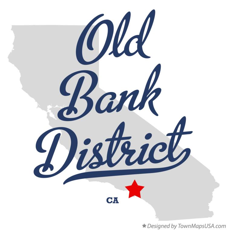 Map of Old Bank District California CA