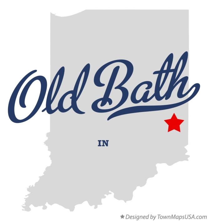 Map of Old Bath Indiana IN