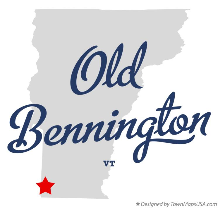 Map of Old Bennington Vermont VT