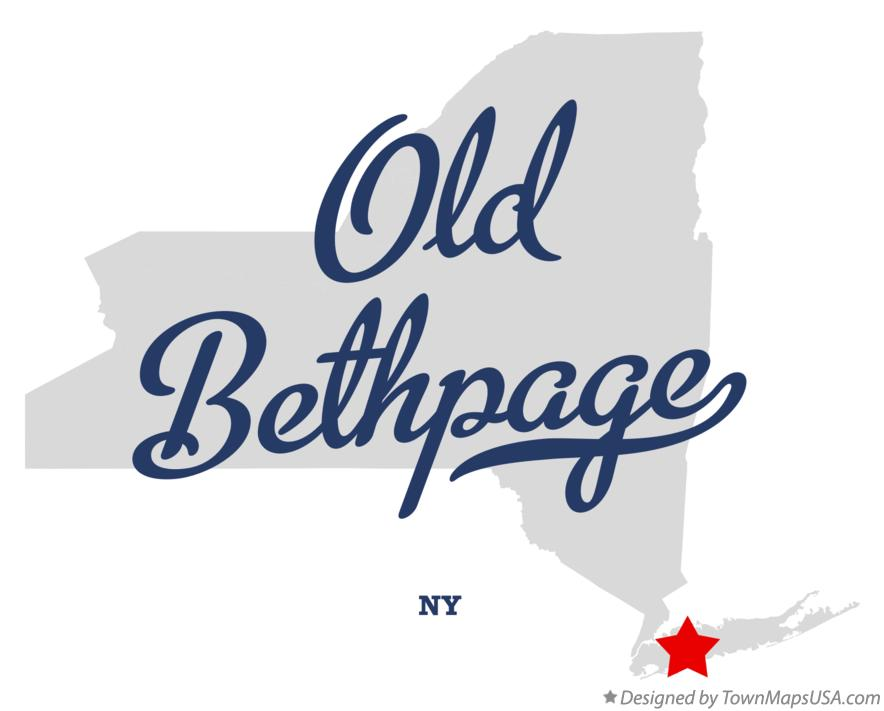 Map of Old Bethpage New York NY