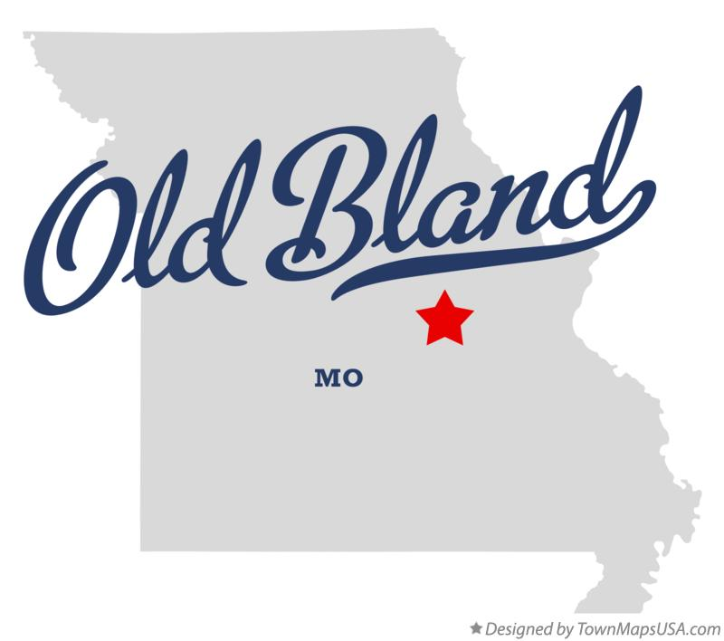 Map of Old Bland Missouri MO