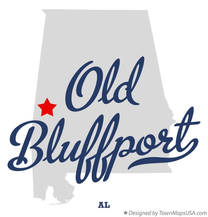 Map of Old Bluffport Alabama AL