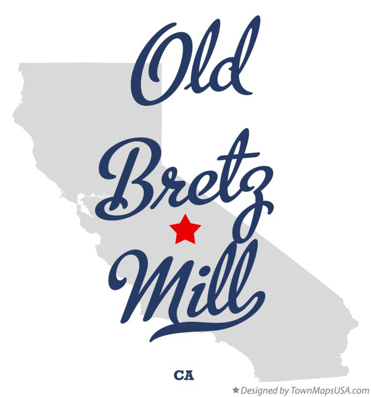 Map of Old Bretz Mill California CA