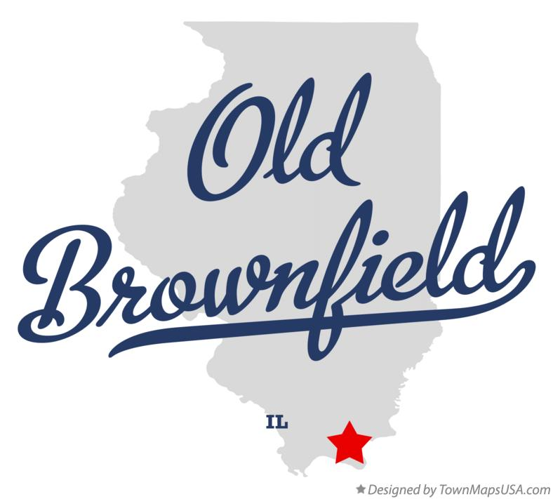 Map of Old Brownfield Illinois IL