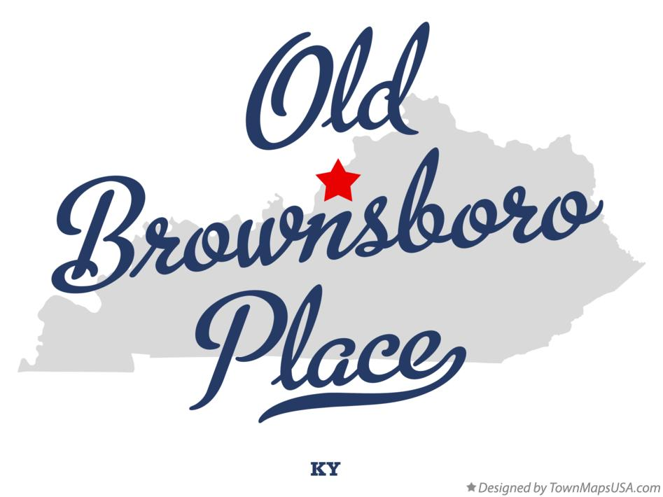 Map of Old Brownsboro Place Kentucky KY
