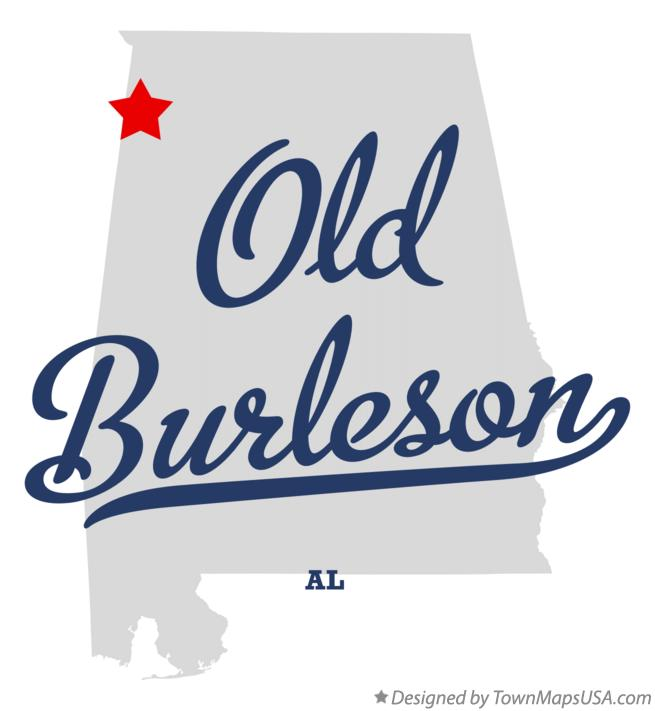 Map of Old Burleson Alabama AL