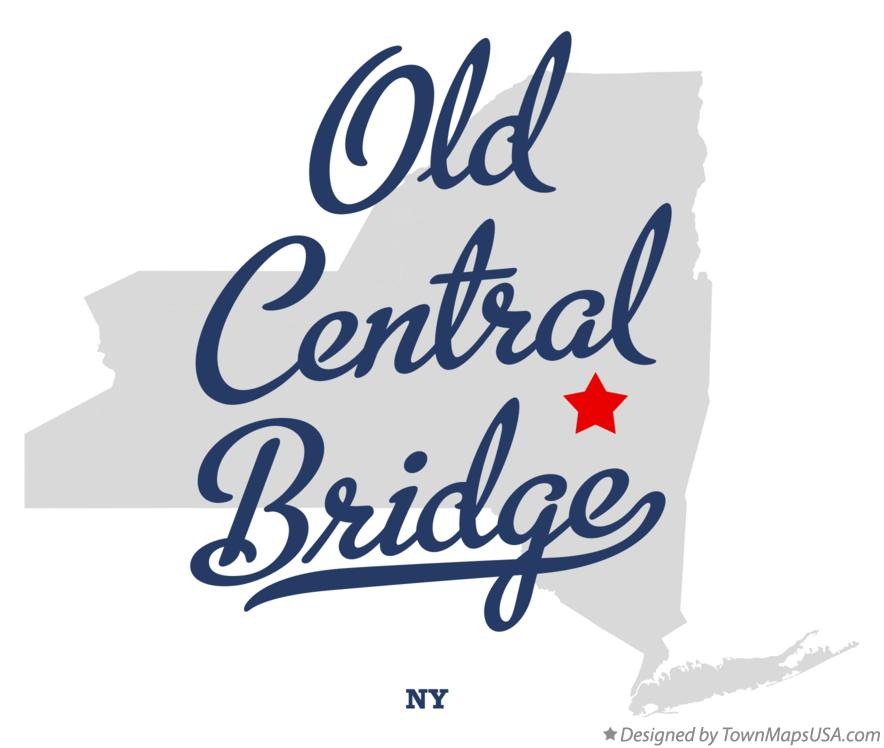Map of Old Central Bridge New York NY