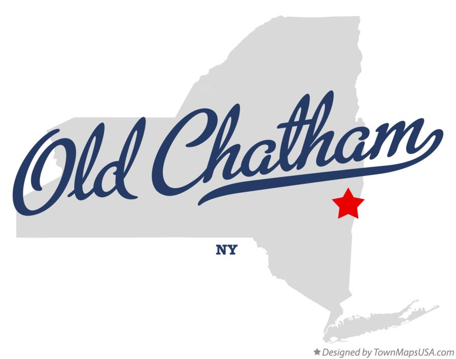Map of Old Chatham New York NY