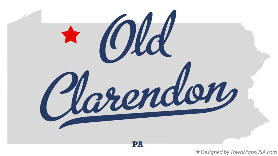 Map of Old Clarendon Pennsylvania PA