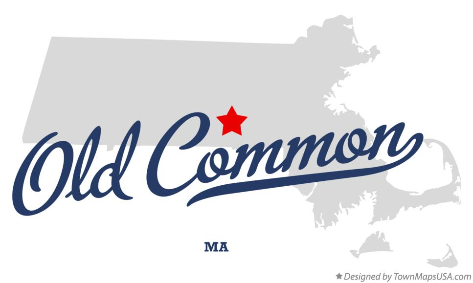 Map of Old Common Massachusetts MA
