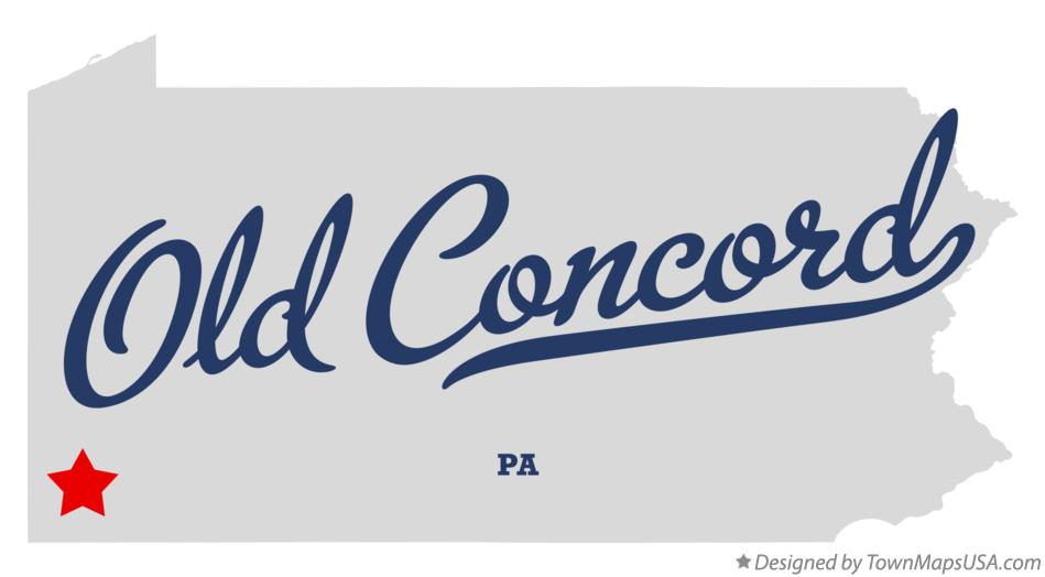 Map of Old Concord Pennsylvania PA