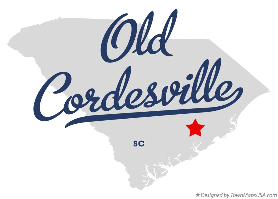 Map of Old Cordesville South Carolina SC