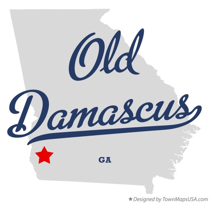 Map of Old Damascus Georgia GA