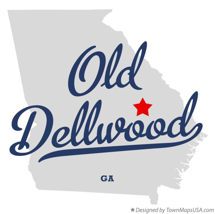 Map of Old Dellwood Georgia GA