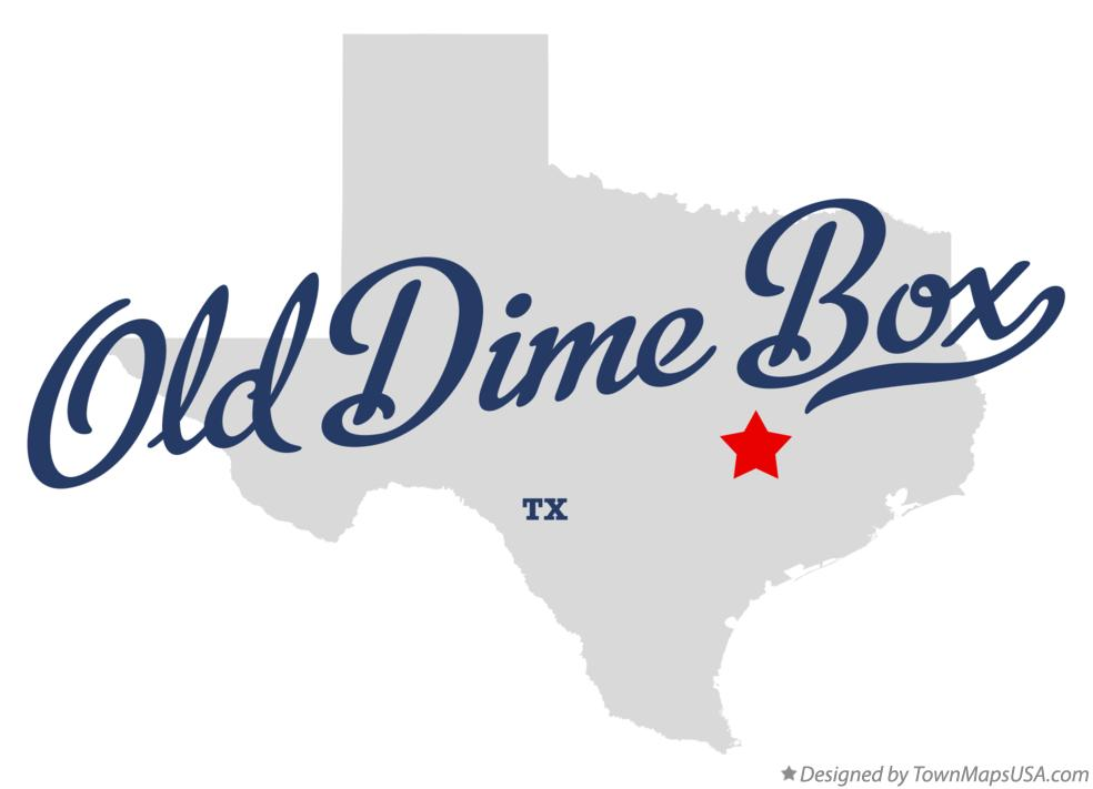 Map of Old Dime Box Texas TX