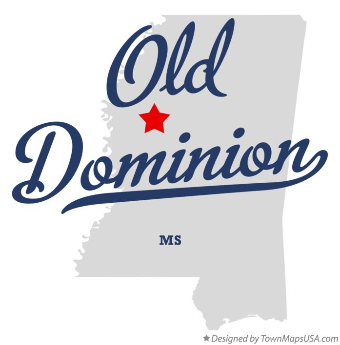 Map of Old Dominion Mississippi MS