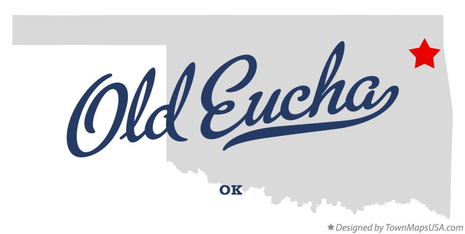 Map of Old Eucha Oklahoma OK
