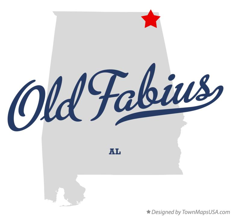 Map of Old Fabius Alabama AL