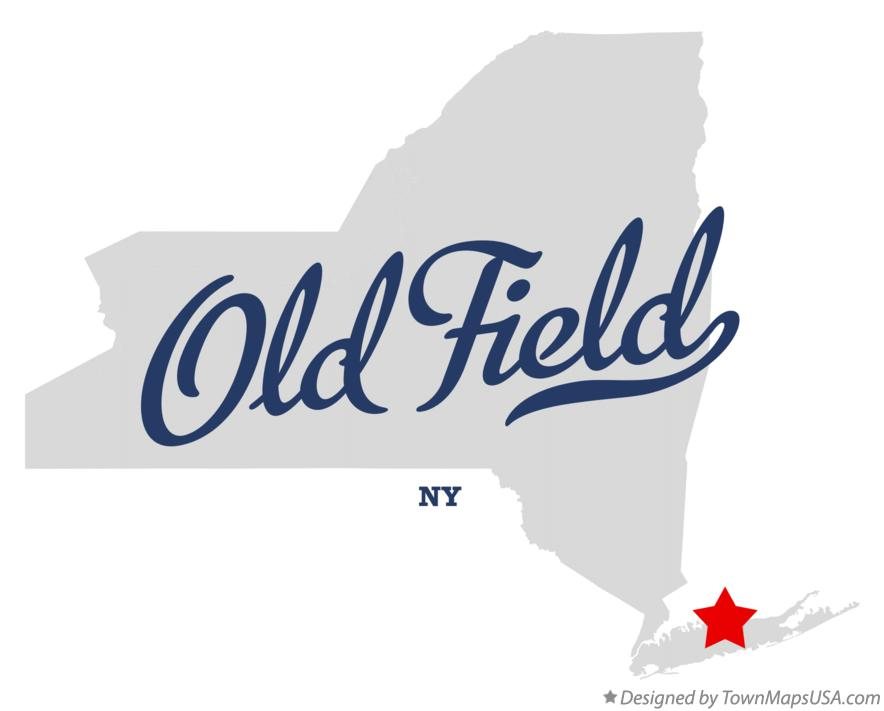 Map of Old Field New York NY