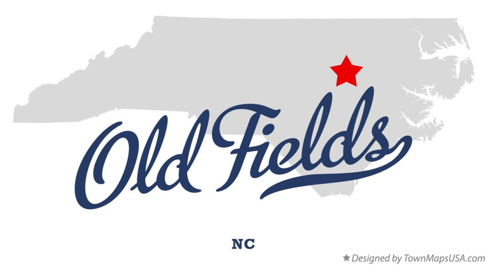 Map of Old Fields North Carolina NC