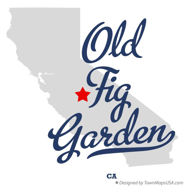 Map of Old Fig Garden California CA