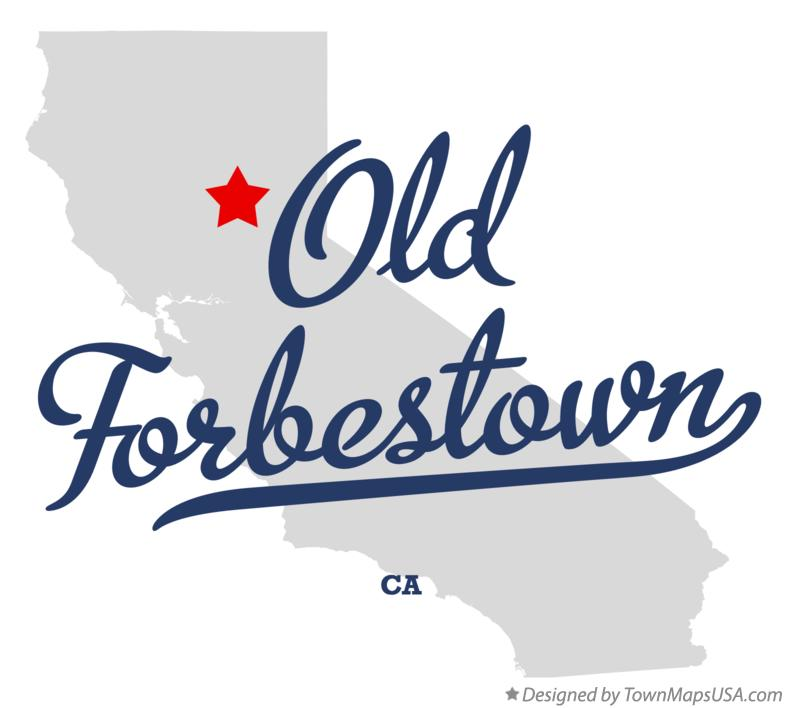 Map of Old Forbestown California CA
