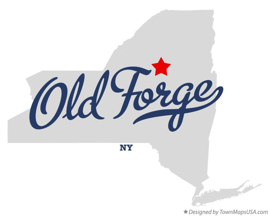 Map of Old Forge New York NY