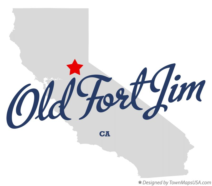 Map of Old Fort Jim California CA